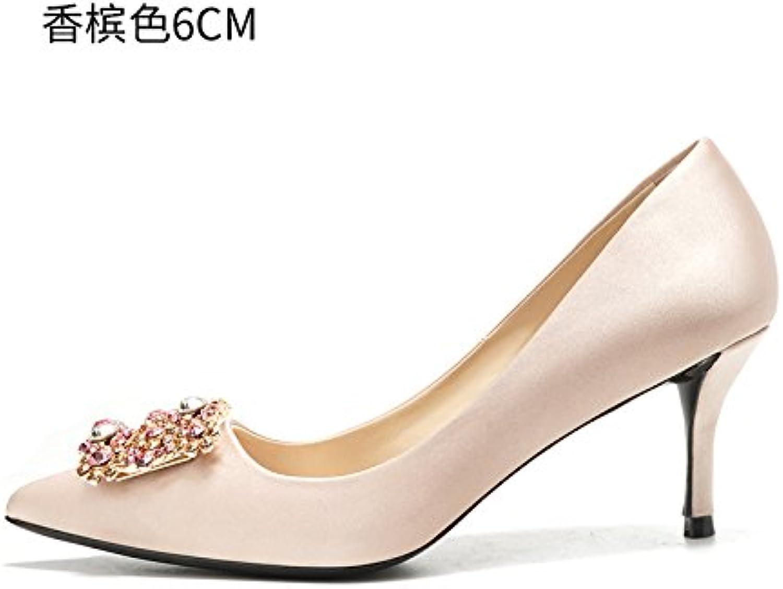 HUAIHAIZ Damen High Heels Pumps Die high-heel Schuhe weiblich Kleid rot Braut Hochzeit Schuhe weiblich Abend Schuhe