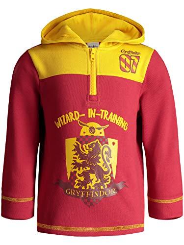 Harry Potter Toddler Boys' Gryffindor Fleece Hoodie Pullover Sweatshirt w Zipper (Red, 4T)