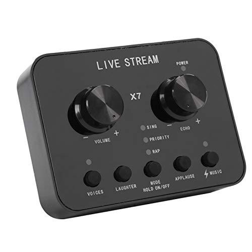 Cambiador de Sonido, Tarjeta de Sonido en Vivo en inglés, Tarjeta de Sonido en Vivo de Audio Externo Universal, Adecuado para grabación de Audio, grabación de Video, etc.
