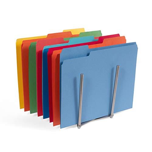 Adjustable Stainless Steel Table Desk Top File Magazine Holder Stacking Sorter Organizer Rack (8 Sectional)