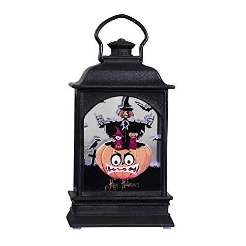 Fine Halloween Creative LED Fireplace Light, Bar KTV Desktop Decoration Props,Effect Battery Operated Portable Night Light for Indoor/Outdoor Decoration (B)