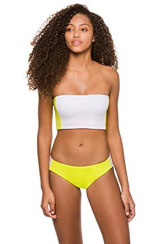 Soluna Women's Moondance Neon Reversible Crop Bandeau Bikini Top Lime Multi S