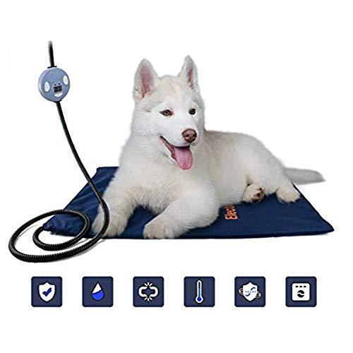LBWLB Elektrische verwarmingsmat voor dieren, verwarmingskussen voor honden en katten, draagbaar, verwarmingsdeken, temperatuur verstelbaar