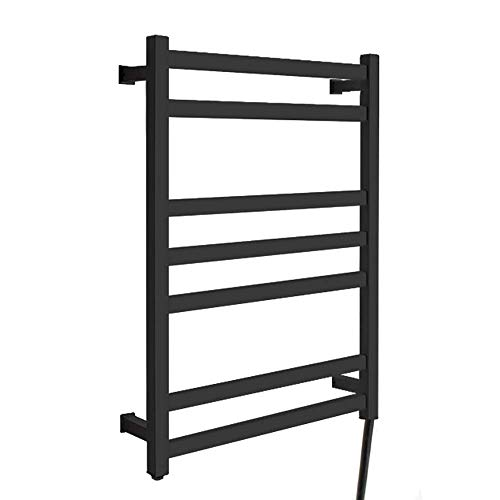 Best Buy! 7-Bar Wall Mounted Heated Towel Warmer and Drying Rack, Towel Heater for Home Bathroom, Pl...
