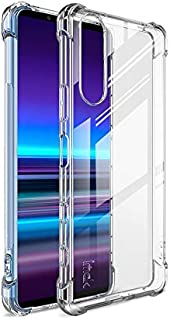 Clear Case For Sony Xperia 5 II, Shock-Absorption Protective Transparent Flexible Silicone Gel Bumper Cover with film scre...