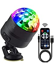 Disco Lights Party Stage LED Strobe Lights with Remote Control DJ 7 Colors Lighting Lamp for Car Wedding Bar Club Karaoke Outdoor Indoor Show (USB Power)