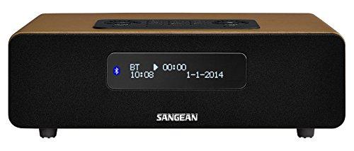 Sangean DDR-36 DAB+ Digitalradio (DAB+/UKW-Tuner, Bluetooth, Weckfunktion, Sleep-Timer, AUX-In) inkl. Fernbedienung braun