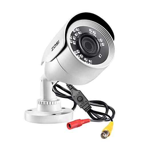 ZOSI 2MP 1080p HD Security Camera Outdoor Indoor 1920TVL (Hybrid 4-in-1 HD-CVI/TVI/AHD/960H Analog CVBS),24PCS LEDs,80ft Night Vision, 90°View Angle, Weatherproof Surveillance CCTV Bullet Camera Bullet Cameras