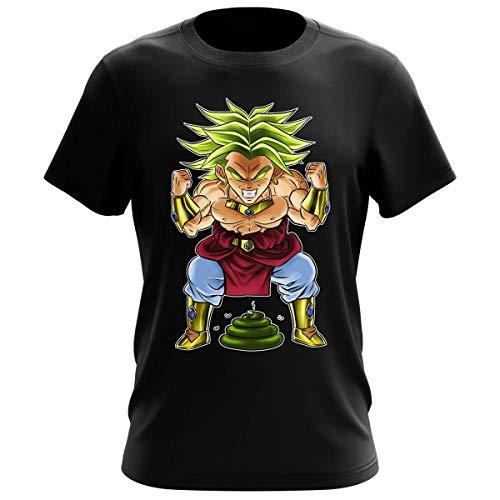 Okiwoki T-Shirt Homme Noir Parodie Dragon Ball Z - DBZ - Broly Le Guerrier millénaire - Super Caca Vol.3 - Le Caca Millénaire (T-Shirt de qualité Premium de Taille XL - imprimé en France)