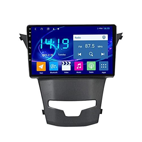 MGYQ 1080P Radio Coche Bluetooth Car Estéreo 9 Pulgadas Pantalla Táctil Reproductor MP5 Radio FM, con Cámara Trasera para SsangYong Korando 2013-2017 Apoyo Control del Volante,Quad Core,WiFi 1+32