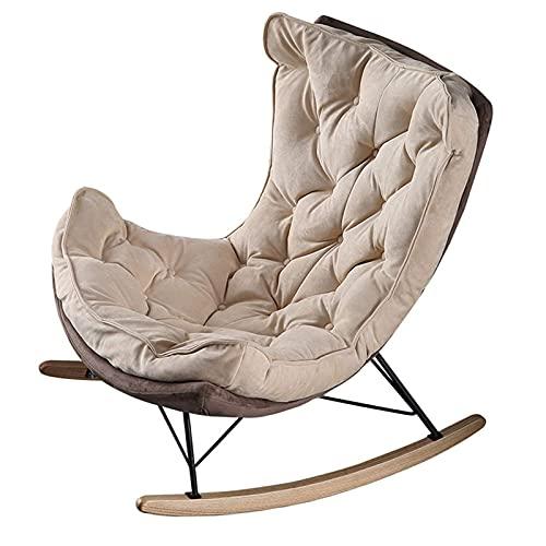DGDF - Sedia a dondolo per balcone, sedia a dondolo, in tessuto, stile lumaca, 95 x 90 x 90 cm