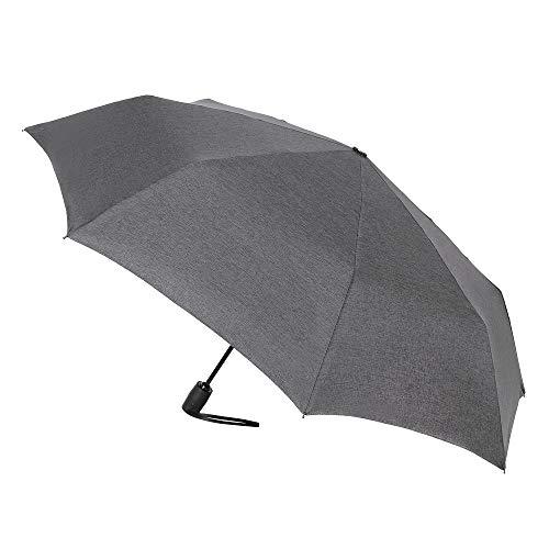 VOGUE-Paraguas Plegable. Paraguas Hombre Paraguas automático. Elegante Tejido Pongee tramado Gris. Paraguas...