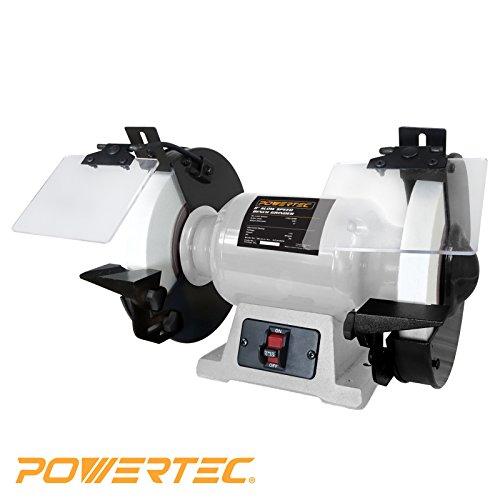 POWERTEC BGSS801 Slow Speed Bench Grinder, 8'