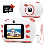 Upgrade Kids Digital Camera,RUMIA Shockproof Digital Video for Boys and Girls,1080P HD Children Action Camera Portable Rechargeable Toddler Video Recorder for Birthday Day Gifts Pink