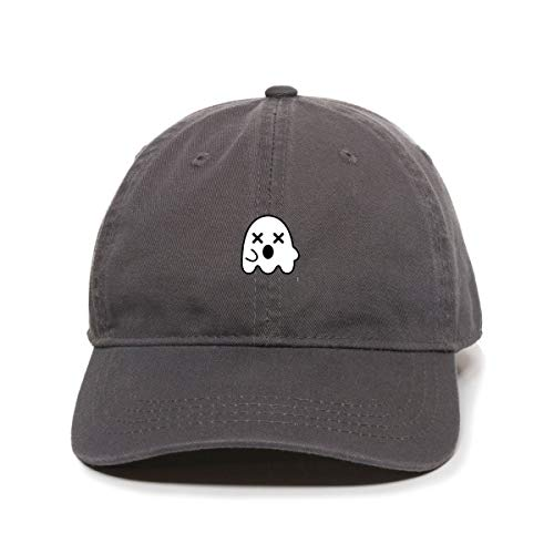 Tech Design Dead Ghost Baseball Cap Embroidered Cotton Adjustable Dad Hat Charcoal