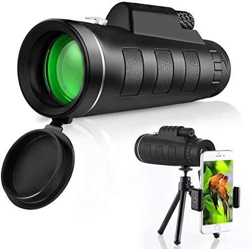 Fovermo Monokular Teleskop HD 40X60 Hochleistungsmonokular für Erwachsene Kinder mit Stativ Smartphone Halter BAK4 Prisma für Wildtiere Vogelbeobachtung Jagd Camping Reisen Wildtiergeheimnis