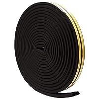 隙間テープ すきま風防止 気密 虫塵すき間侵入防止 強力粘着 5メートル (Ⅾ, ブラック)