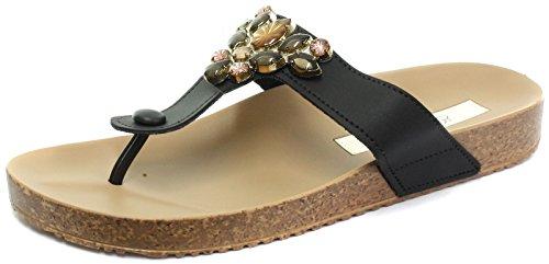 Grendha Brasil Essence Tanga Negro Mujeres Flip Flops, color Negro, talla 40 EU