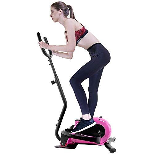 XUSHEN-HU Máquina elíptica máquina elíptica Bicicleta Estática Cardio Entrenamiento elíptico-portátil de Entrenamiento Vertical de Fitness Entrenador elíptico de Rosa máquina elíptica Trainer (Color: