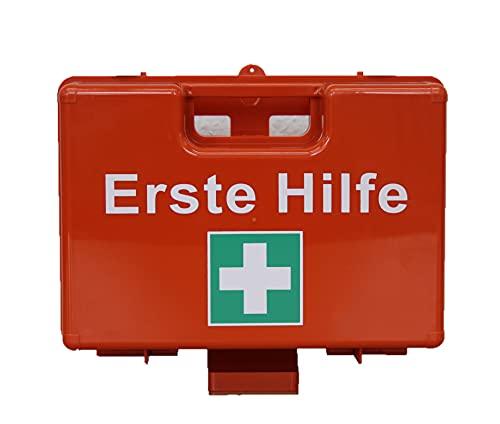 Brandengel Erste-Hilfe-Koffer Kasten Set Mobiler und stationärer Farbe: Orange Gr. 27x19x11, 5 cm inkl. Wandhalterung leer