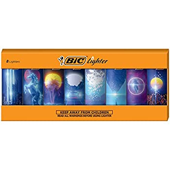 BIC Special Edition Retro Wave Series Lighters Set of 8 Lighters