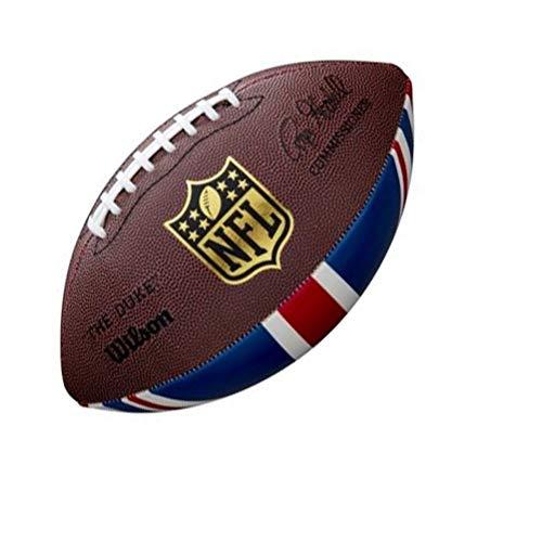 Wilson Unisex-Adult NFL UNION JACK OFF SZ FB XB American Football, BROWN, OFFICIAL