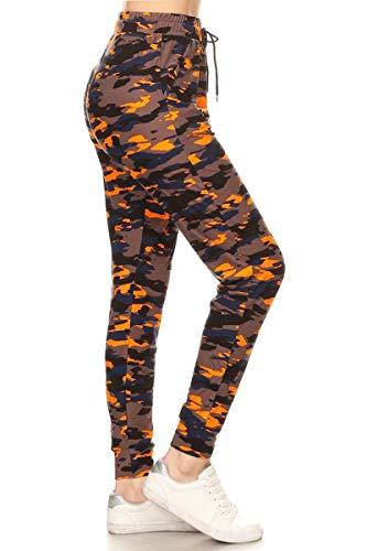 Leggings Depot Premium Women's Joggers Popular Print High Waist Track Pants(S-XL) BAT5