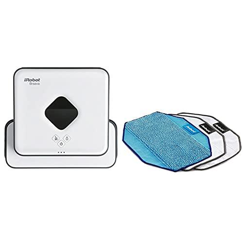 iRobot Braava 390T Lavapavimenti 2 in 1: Pulizia a Secco e a Umido, Adatto per Pulire pi&ugrave & Kit Panni Microfibra 2 dry & 1 wet per Braava 320 e 380 Originale