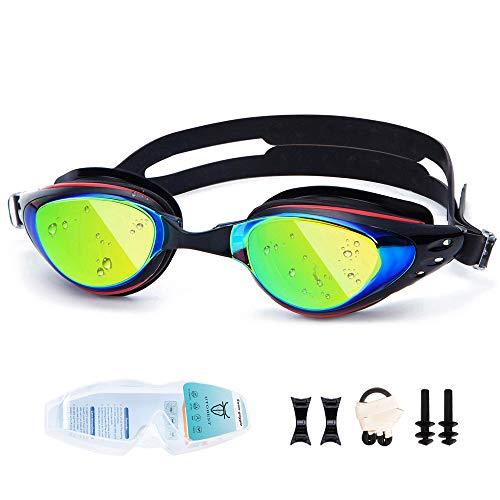 UTOBEST Kurzsichtig Schwimmbrille (-1.5 bis -6) Anti Fog Kurzsichtige Schwimmbrille 100% UV-Schutz Triathlon-Schwimmbrille Für Erwachsene Männer Frauen Junior(-1.5)