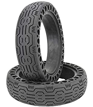 Eds Industries Electric Scooter Replacement Wheels Solid Never Flat Tires for Xiaomi M365 or Similar E-Scooter Models  Set of 2 Tires