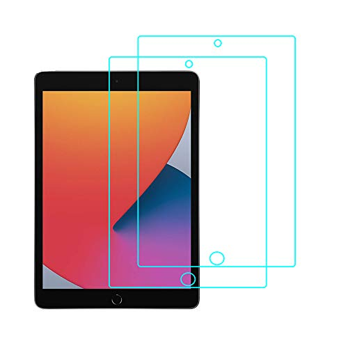 RLTech Screen Protector for iPad 10.2 2020, 9H Tempered Glass [Anti-Scratching] [Anti-Fingerprint] [Bubble-Free] Screen Protector for iPad 10.2'' 8th Gen 2020, 2PC
