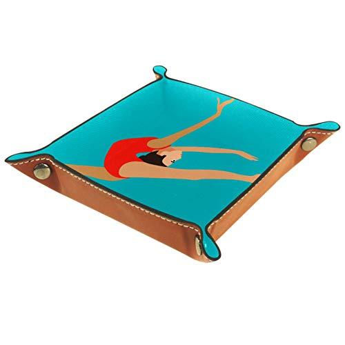 MUMIMI Caja de almacenamiento de joyería para anillos y pendientes, caja de joyería con soporte para anillos de gimnasia rítmica y artística