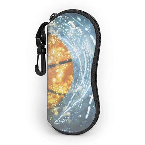 Gafas de sol suave estuche ligero portátil impreso en 3D baloncesto con cremallera ligera galaxia gafas caja con clip para cinturón para hombre y mujer