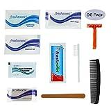 96 Kits - Bulk Case of Wholesale Deluxe 11 Piece Hygiene & Toiletry Kit for Men, Women, Travel, Charity