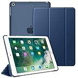 Fintie Funda para iPad 9.7 (2018/2017), iPad Air 2, iPad Air - Trasera Transparente Carcasa Ligera con Función de Soporte y Auto-Reposo/Activación, Azul Oscuro