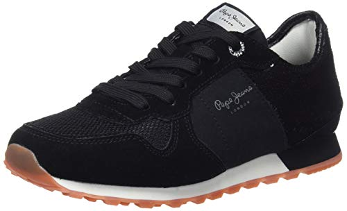 Pepe Jeans London Verona W New Sequins 2, Zapatillas para Mujer, Negro (Black...
