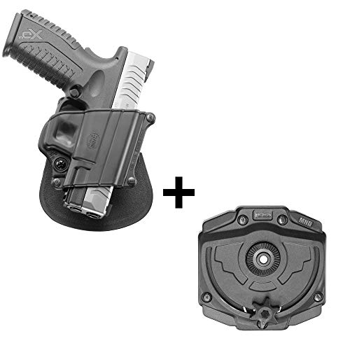 Fobus rotating roto tactical retention holster + Molle adapter attachment for Springfield XD XDM / HS 2000 / Taurus PT609, Titanum, PT 24/7 9 & 40mm pistols
