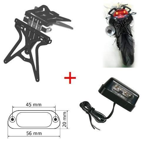 Compatible con Bullet Electra 500 Scrambler Porta Placa Universal Ajustable Motocicleta +...