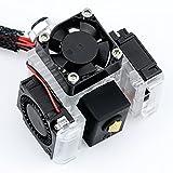 Haldis 3D V6 Hotend Kit, Upgrade All Metal V6 J-Head Bowden Extruder Hotend, Bi-Metal Heatbreak with 3 Cooling Fans(3010),Replacement Parts Hot End Kit for All 1.75mm E3D V6 Makerbot 3D Printer(24V)