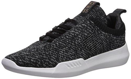 K-Swiss Men's Gen-K Icon Knit Sneaker, Black/Grey Heather, 13 M US