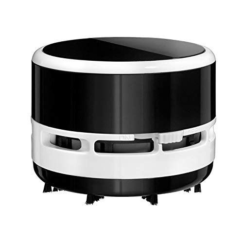 Mini Aspiradora Aspiradora De Escritorio De Oficina En Casa para Coche, Mini Kit De Limpieza con Batería-Negro