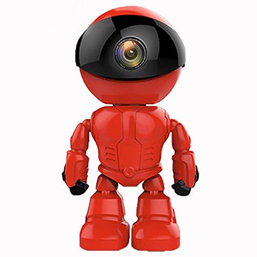 Cámara Web Robot Inteligente WiFi, HD 1080p Cámara inalámbrica, Red HD Cámara de vigilancia en el hogar, Intercomunicador de Voz remota, Alarma de detección de Movimiento, Monitor de Seguridad for ma