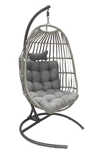 Signature Homes And Gardens Folding Rattan Swing Seat, Hammock, Hanging...