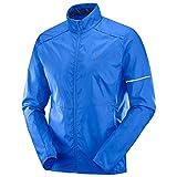 Salomon, Veste Coupe-Vent pour Homme, AGILE WIND JKT, Taffetas, Bleu (Nautical Blue), Taille L, LC1047400