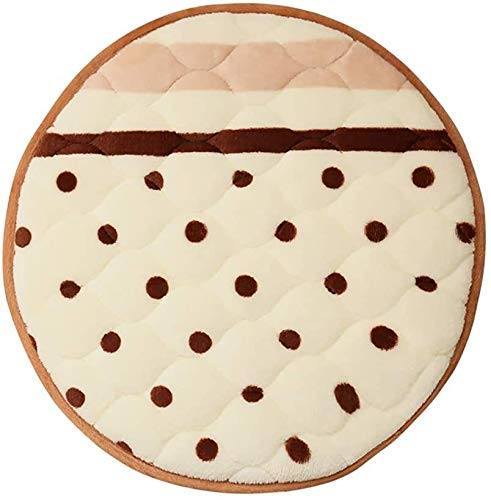 Round Bar Stool Soft Sponge Flannel Chair Cushion Pad 13inch 915 (Color : A)