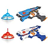 EOYIZW Laser Tag Guns with Drones Target, Set of 2 Infrared Laser Tag Multi Player Backyard Laser Tag Games for Kids and Adults, Lazer Tag Indoor and Outdoor Games for Family