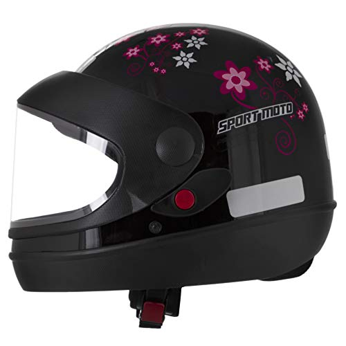 Pro Tork Capacete Sport Moto For Girls 56 Preto
