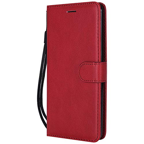 NEXCURIO LG Stylo 2 / Stylo 2 Plus/Stylo 2 V Wallet Case with Card Holder Folding Kickstand Leather Case Flip Cover for LG Stylo 2 / Stylo 2 Plus - NEKTU13189 Red