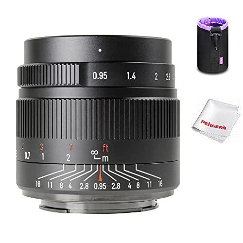 7artisans 35mm F0.95 手動単焦点レンズ 交換レンズ レンズポーチバッグ同梱 (Eマウント)