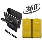 hyujia Compatible Samsung Galaxy J5 Funda(2017) Carcasa 360°Ultra Fina Protectora cojín+Vidrio Templado Pantalla Protector,3 in 1 PC Hard Caja...